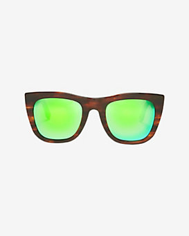 SUPER Sunglasses Gals Cove Tortoise Mirrored Lense Wayfarer Sunglasses