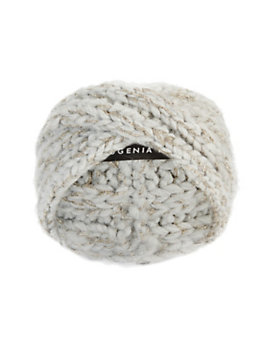 Eugenia Kim Lula Lurex Knit Knot Headband: Grey