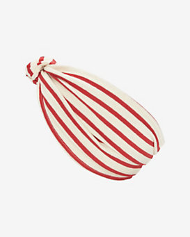 Eugenia Kim Chiara Knotted Stripe Headband: Red