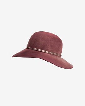 Eugenia Kim Blake Leather Trim Wool Hat