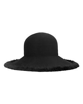 Eugenia Kim Blake Fur Trim Floppy Hat