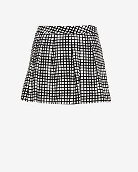L'Agence Printed Pleated Skort