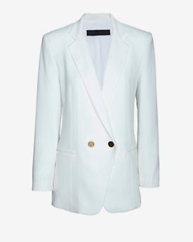 Jenni Kayne Cross Button Blazer: White