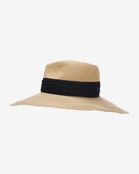 Eugenia Kim Cassidy Ribbon Trim Wide Brim Hat