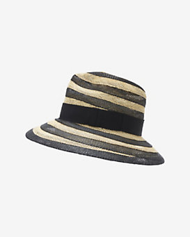 Eugenia Kim Courtney Striped Fedora