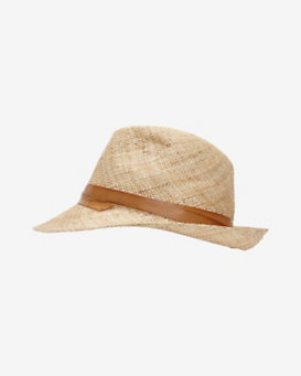 Inverni Leather Trim Casablanca Hat
