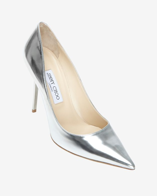 Jimmy Choo Silver Mirrored Metallic Pump: Silver