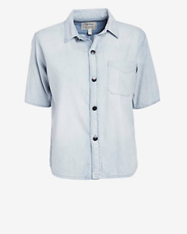 Current/Elliott Costa Short Sleeve Denim Shirt