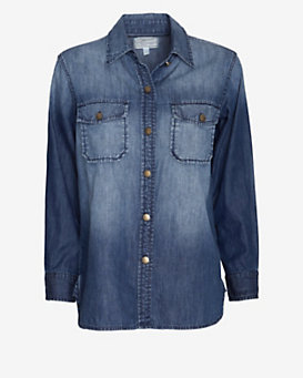 Current/Elliott EXCLUSIVE Perfect Denim Shirt