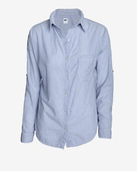 NSF Striped Button Down Shirt