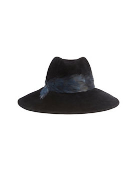 Eugenia Kim Emmanuelle Medium-Brim Feather Fedora