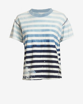 NSF Ombre Striped Destroyed Tee