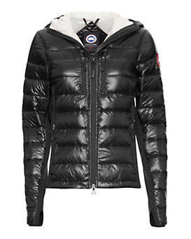 Canada Goose Hybridge Light Hooded Jacket: Black