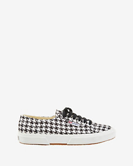 Superga Lace Up Houndstooth Sneakers