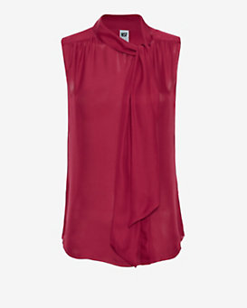 NSF EXCLUSIVE Tie Neckline Sleeveless Blouse