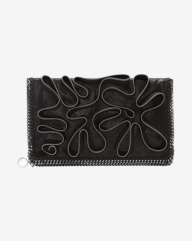 Stella McCartney Foldover Novelty Zipper Clutch
