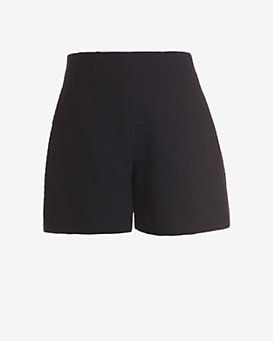 Carven Flare Tweed Shorts