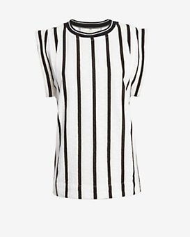O'2nd Striped Sleeveless Top