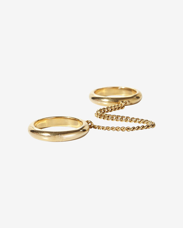 Chloe Carley Double Chain Banded Ring