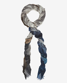Franco Ferrari Ombre Feather Print Scarf