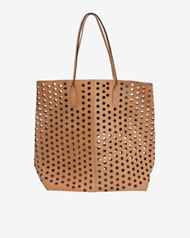 Rachel Comey Hole Punched Leather Tote: Tan