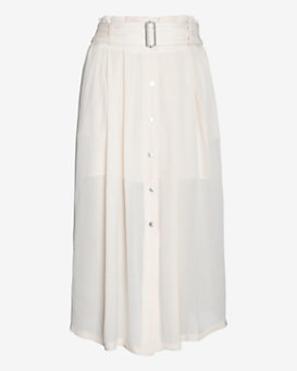 A.L.C. McDermott Button Down Pleated Skirt