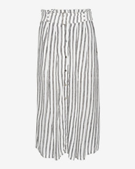 A.L.C. Mcdermott Striped Silk Print Skirt