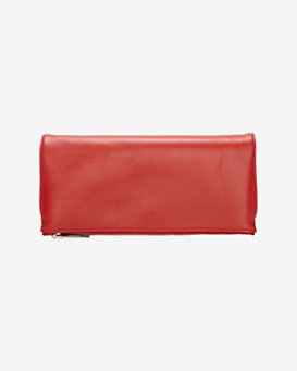 A.L.C. Saville Foldover Clutch: Red