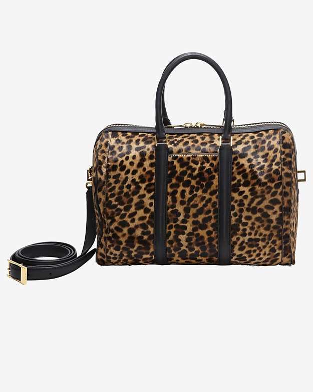 A.L.C. Lucas Leopard Print Haircalf Double Handle Satchel