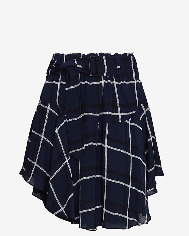 A.L.C. Asymmetric Belted Mini Skirt