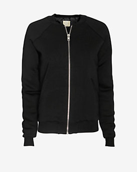 torn by ronny kobo Knit Bomber Jacket: Black