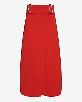 A.L.C. Baker Belt Detail Skirt: Red
