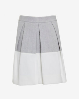 L'Agence Colorblock Pleated Skirt