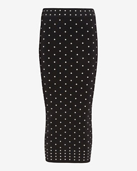 torn by ronny kobo Renata Polka Dot Pattern Pencil Skirt