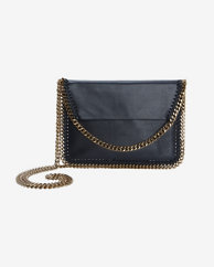 Stella McCartney Mini Three Chain Crossbody: Black