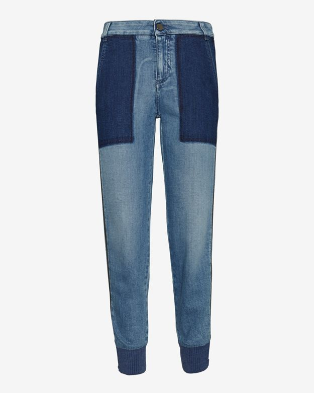 Stella McCartney Zipper Harem Denim Pant