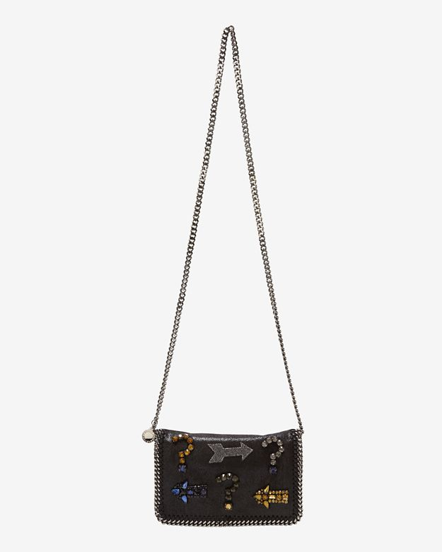 Stella McCartney Falabella Crystal Embellished Flap Crossbody
