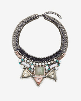 Nocturne Aden Collar Necklace: Nude