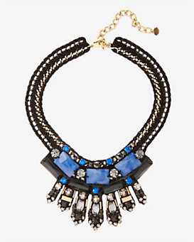 Nocturne Salia Beaded Collar: Blue
