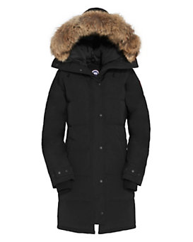 Canada Goose Shelbourne Fur Trim Parka: Black