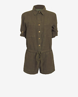 Enza Costa EXCLUSIVE Military Romper