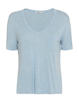T by Alexander Wang Classic Cropped Pocket Tee