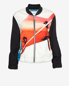 The Textile Rebels EXCLUSIVE Sunset Print Bomber Jacket