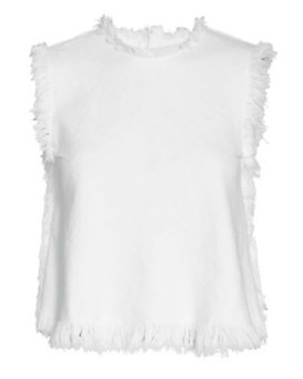 T by Alexander Wang Frayed Burlap Crop Top