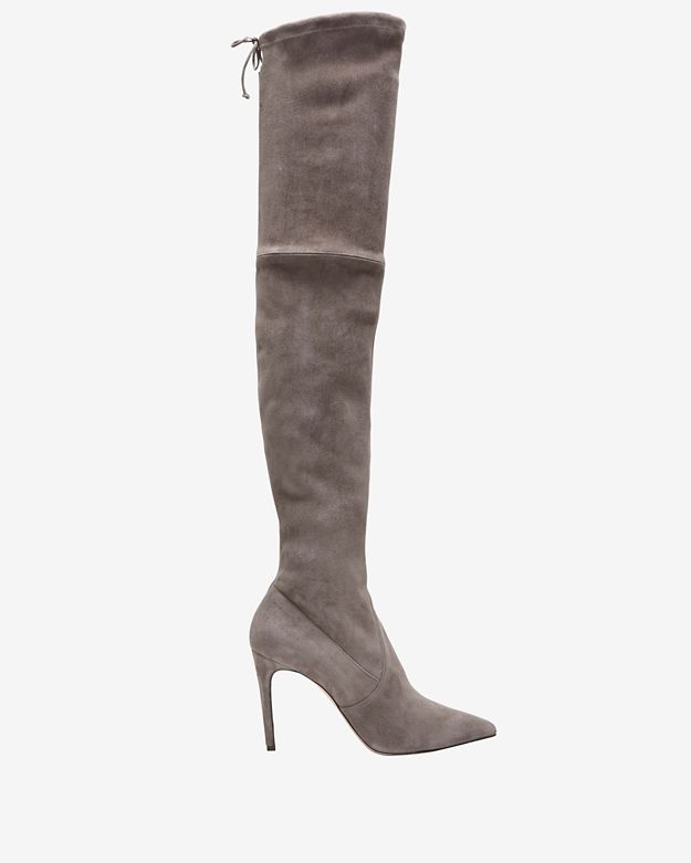 Jean-Michel Cazabat Stretch Suede OTK High Heel Boot