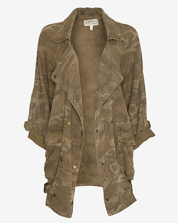 Current/Elliott Camo Print Cargo Jacket