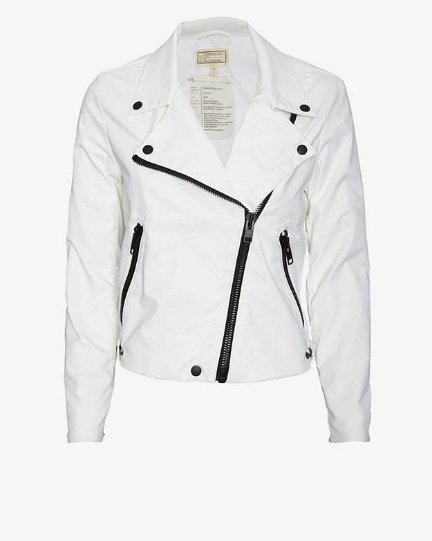 Current/Elliott Coated Moto Jacket: White