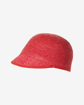 Genie By Eugenia Kim Straw Mod Cap: Red