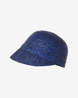 Genie By Eugenia Kim Straw Mod Cap: Navy