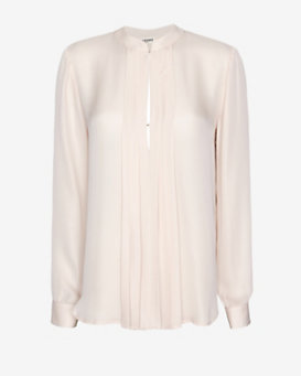 L'Agence Pleated Placket Blouse